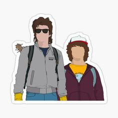 Things stickers Dustin and Steve Design Sticker Dustin and Steve Design Sticker Stranger Things Dustin, Stranger Things Aesthetic, Stranger Things Netflix, Stranger Things Season, Pop Stickers, Tumblr Stickers, Printable Stickers, Vsco, Bullet Journal Ideas Pages