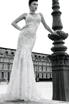 WOW!  Grafitti sleeveless gown from Cymbeline Paris 2013 collection