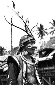 Indonesia - Sumatra, Nias Island | Warrior / soldier. | Photographer and date unknown