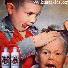Boy giving haircut to boy!