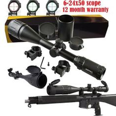 FSI 6-24x50 AOE Tri-Illuminated Long Range Rifle Scope W// Mil Dot Reticle