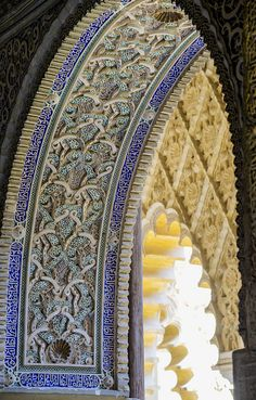 Spain Travel Inspiration - The Blue Gate Granada Alhambra Spain Islamic Architecture, Beautiful Architecture, Art And Architecture, Architecture Details, Wonderful Places, Beautiful Places, Alhambra Spain, Spain And Portugal, Moorish