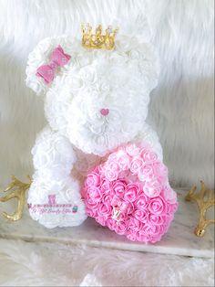 Beautiful Flower Arrangements, Beautiful Flowers, Rose Crafts, Bear Shop, Flower Boutique, Pink Rose Flower, Cute Teddy Bears, 30th Birthday, Birthday Ideas