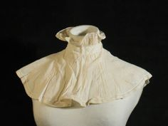 """Linen """"Tucker"""". A tucker of chemissette was used to raise the neckline of a dress in order to make it modest enough for daywear. They also could be exchanged an replaced, lending variety. 1800-1815."""