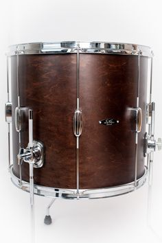 C&C Drums Europe - Vintage Drums - Player Date 2 - Walnut Satin - Floor Tom www.candcdrumseurope.com