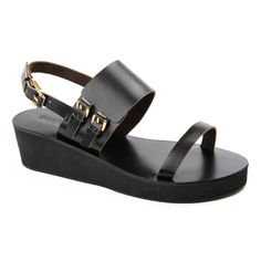 Cali and Cale - Parade Black Leather sandal Black Leather Sandals, Black Sandals, Me Too Shoes, My Style, Lady, Designer Clothing, Journey, Women, Clothes