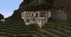 Modern House In Mountain Minecraft Project