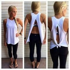 Super cute White tank which can be worn both ways
