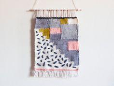 Little lines # 1 weaving // Handwoven wall hanging