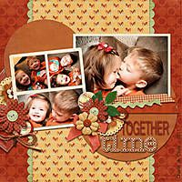 Together Time - Larger photos with smaller embelishments would help to bring out this brother and sister.