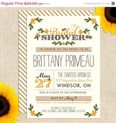 LOVE DAY SALE Fall Whimsy Bridal Shower by YellowBrickGraphics, $15.00