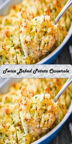 Twice Baked Potato Casserole Twice Baked Potatoes Casserole, Healthy Salads, Potato Salad, Juice, Roast, Tacos, Ethnic Recipes, Sweet, Food