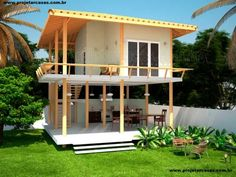 Bamboo House Design, Wooden House Design, Tropical House Design, Simple House Design, Tiny House Design, Tropical Houses, Pole House, Hut House, Tiny House Cabin