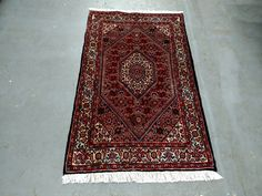1980s Vintage Hand-Knotted Bijar Persian Rug (3670) by JahannAndSons on Etsy