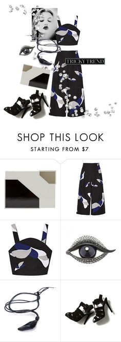 """Camo Culottes"" by metter1 ❤ liked on Polyvore featuring Lee Savage, TIBI, GE, Lanvin, Roger Vivier, TrickyTrend and culottes"