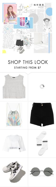"""""""[ 70 ] now I wanna know your heart"""" by jong-n ❤ liked on Polyvore featuring MANGO, Universal, Wall Pops!, WithChic, River Island, Puma, Monki, Asics and Sunday Somewhere"""