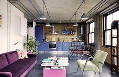 Casinha colorida: Um loft industrial inspirado nos anos 50