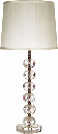 Juliette Clear Crystal Tall Lamp