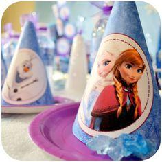 Disney FROZEN Birthday Party Hats Printable by KraftsbyKaleigh
