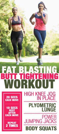 Fat Blasting, Butt Tightening Workout #workout #buttworkouts