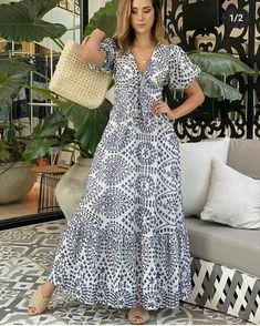 Simple Dresses, Cute Dresses, Beautiful Dresses, Casual Dresses, Summer Dresses, Fashion Sewing, Boho Fashion, Dress Outfits, Fashion Dresses