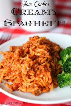 Just Another Day in Paradise: Slow Cooker Saturday: Creamy Spaghetti