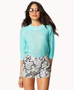 Essential High-Waisted Paisley Shorts
