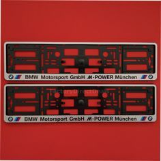 Pair bmw autohaus munchen m power number plate surrounds holder frame for cars | Number plates and Number  sc 1 st  Pinterest & Pair bmw autohaus munchen m power number plate surrounds holder ...