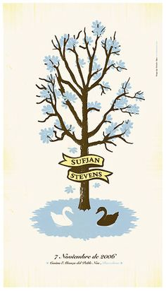 This Sufjan Stevens gig poster manages to visually represent the mood of the music. #TASD