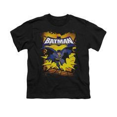 Sons of Gotham Batman Black /& Gold Embossed Adult Ringer T Shirt XL