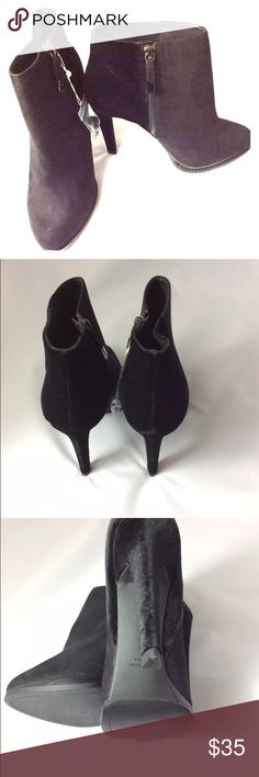 273e56984ac New Zara Velvet Booties Black New Zara basic platform ankle booties. These  cuties are in