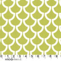 Billow in Kiwi by Trenna Travis for MMF by 83westfabrics on Etsy, $13.95