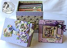Learn how to make this box from chipboard and Place in Time! Tutorial by @Gloria Stengel ! #graphic45 #tutorials