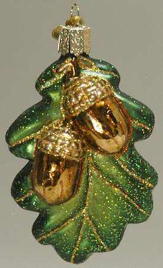 Merck Old World Oak Leaf and Acorn Christmas Ornament