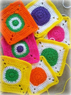 Basic solid circle (pattern) on Colourful Crochet and Craft blog