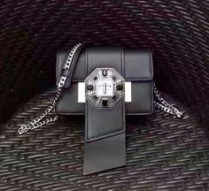 Prada jewels ribbon bag black