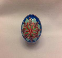 Ukrainian Egg, star design ~ Pysanka ~ Pysanky ~ Ukrainian Easter Egg ~ collectible ~ art by EggsbyShari on Etsy https://www.etsy.com/ca/listing/489714486/ukrainian-egg-star-design-pysanka