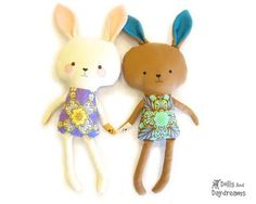 * Dolls And Daydreams - Doll And Softie PDF Sewing Patterns: Easter Bunny Rabbit Pattern is Finished! Cute Bunny, Bunny Rabbit, Softies, Sewing Toys, Sewing Crafts, Dolls And Daydreams, Sewing Stuffed Animals, Sewing Patterns For Kids, Sewing Ideas