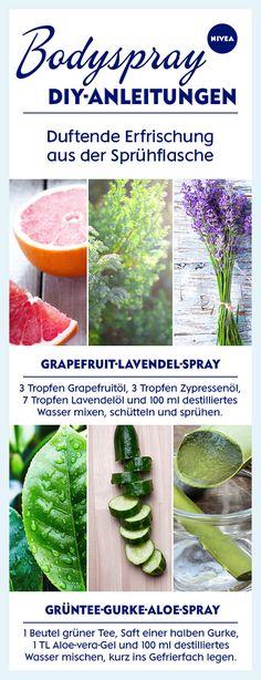 Wenn's heiß wird: Bodysprays kühlen euch wieder ab. Wir zeigen, wie ihr den Frischekick mit wenigen Zutaten einfach selbst mixt.