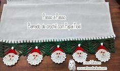 Barrado/ Bico Papai Noel de Crochê