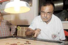 One-fingered carrom star,   Jagannath Metrani   plays for love of game