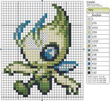 251 - Celebi by Makibird-Stitching