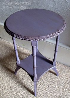 This table was done with Emile Chalk Paint® decorative paint by Annie Sloan by New Beginnings Art & Furniture. Annie Sloan Chalk Paint Emile, Annie Sloan Painted Furniture, Annie Sloan Paints, Chalk Paint Furniture, Art Furniture, Furniture Makeover, Purple Furniture, Chalk Paint Projects, Paint Ideas