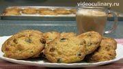 пошаговый фото-рецепт и видео-рецепт  Печенья Шоколадные чипсы