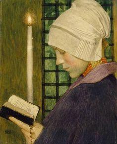 Candlemas Day (1901).  Marianne Preindelsberger Stokes (Austrian, 1855–1927).   Tempera on panel.  Tate Britain,London.