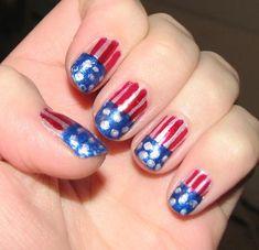 American Flag Nails :)
