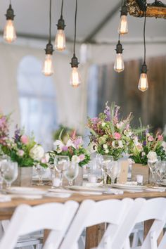 table decor, flowers, country wedding decor, reception