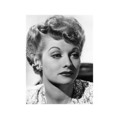 Lucille Ball, c.1940s Premium Poster ($25) ❤ liked on Polyvore featuring home, home decor, wall art, entertainment, movies, movie posters and movie wall art