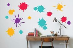 Paint Splatter Wall Decal at AllPosters.com