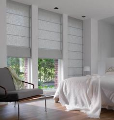 Double roller blinds for bedrooms and living area windows Also